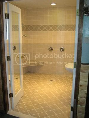 Good Tile Handicapped Accessible Shower Bathroom