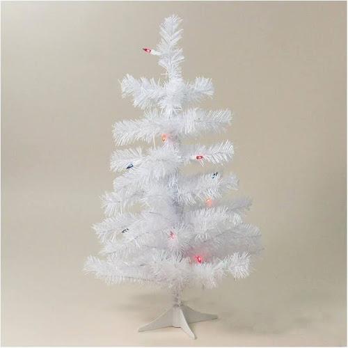 northlight 2 ft slim white tinsel pre lit christmas tree 32624663