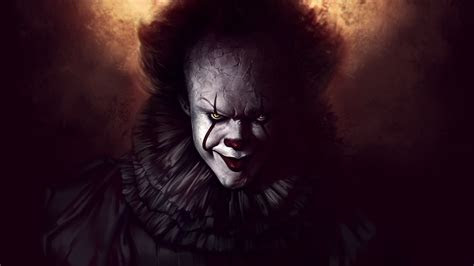 Wallpaper Pennywise, It, Clown, Fan art, 4K, Movies / Most