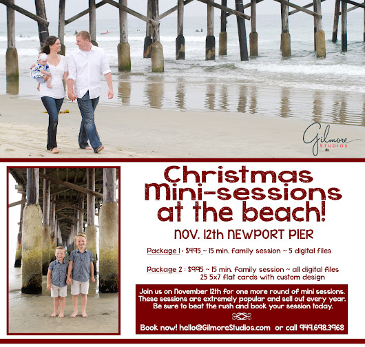 Christmas mini sessions at the beach! |November 12th|Newport Beach Photographer