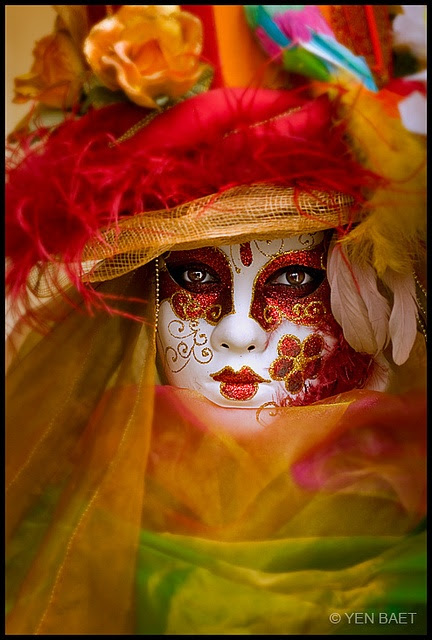 Wanna Face Paint the girls like the masks we saw in Venice years ago?