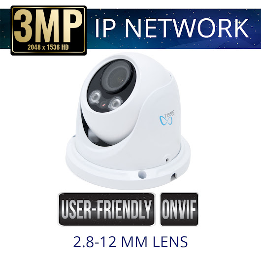 3mp IP Network Eyeball Dome Camera Weatherproof with IR