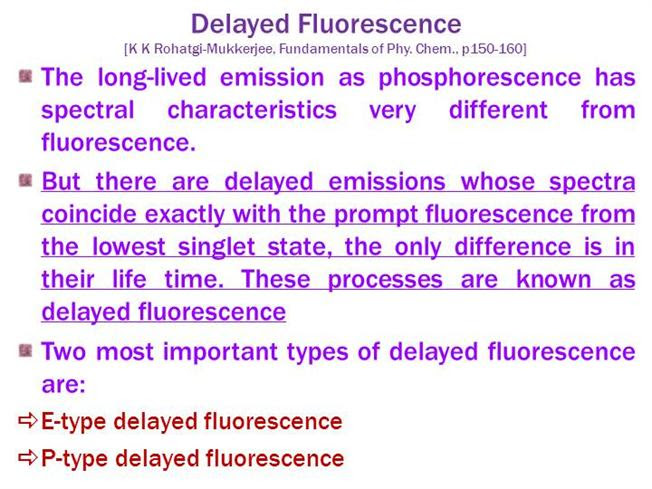 Delayed Fluorescence Authorstream