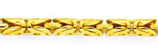 Foto 2, Königskette Goldkette, massives Gelbgold 18K/750 Luxus!, K2118