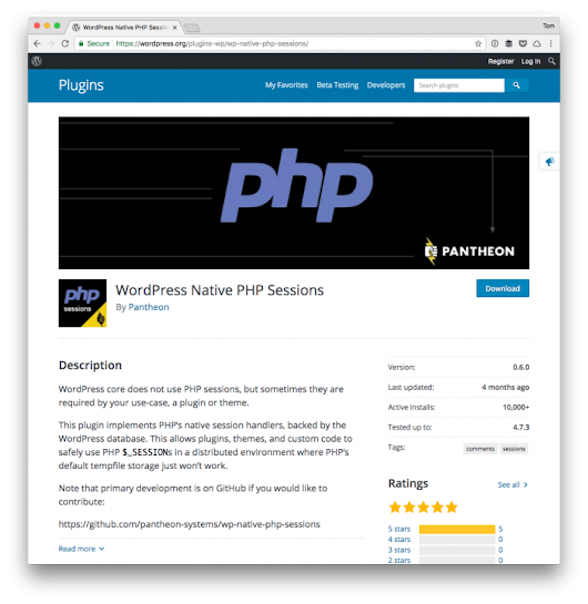 Working with PHP Sessions and WordPress | Tom McFarlin