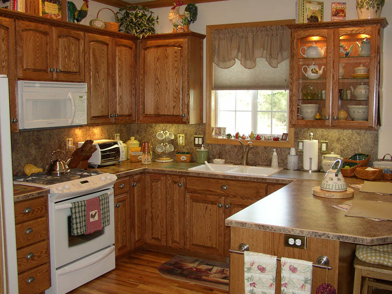 Home Living Blog Country Kitchen Oak Cabinets