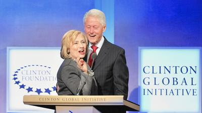 At the Clinton Foundation, you can smell the meat a-cookin'