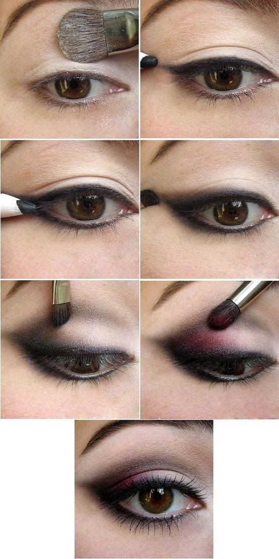 Great for beginners such as myself.   have a hard time with understanding how to apply eye make up.. this looks simple enough to give it a try :) - Click image to find more Hair & Beauty Pinterest pins