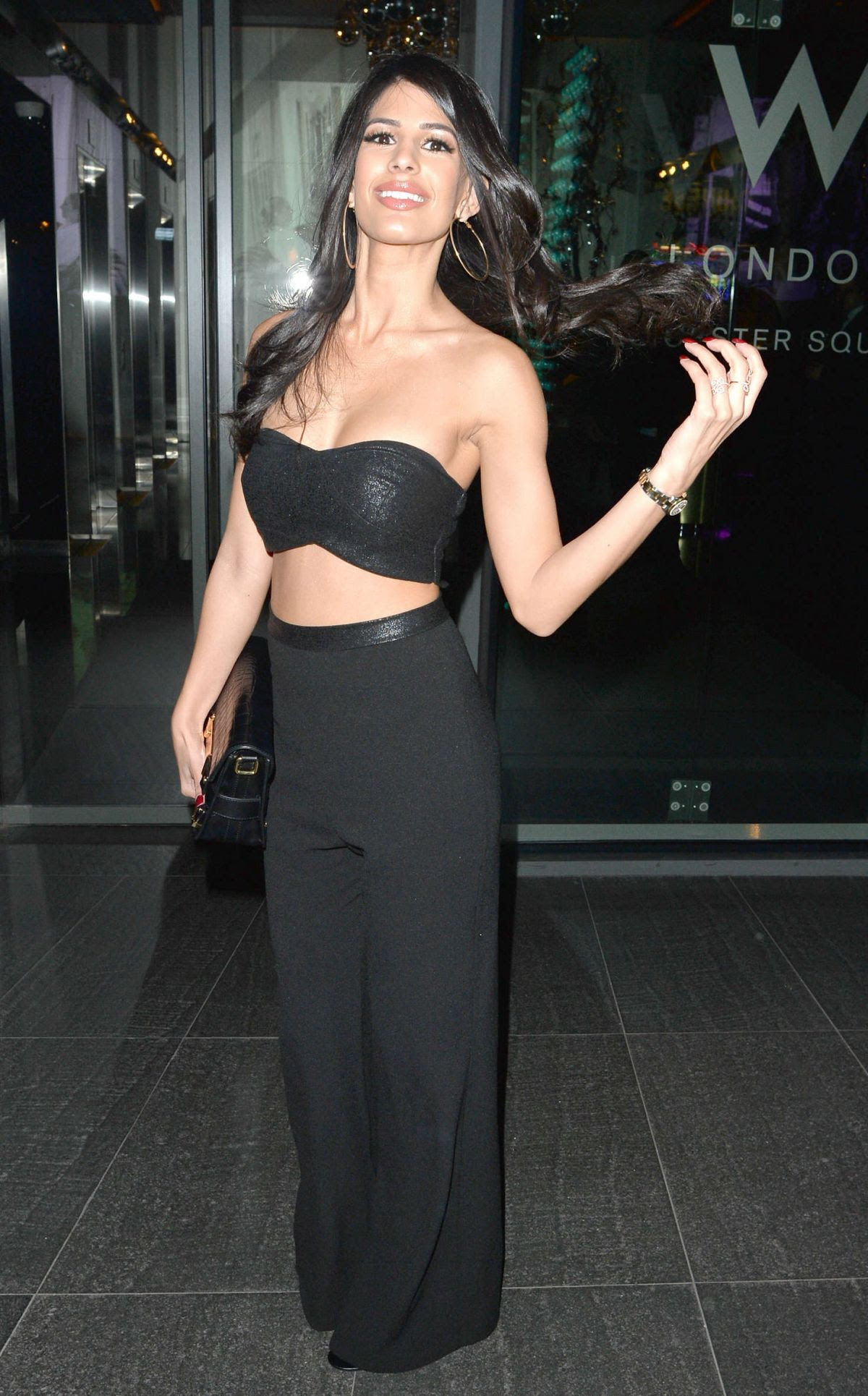 JASMIN WALIA at W Hotel in London 01/19/2016