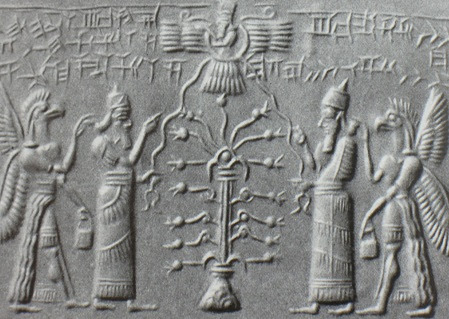 winged-disk-christmas-tree-Mesopotamian