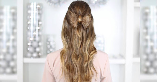Holiday hairstyle ideas for Christmas or New Year's Eve