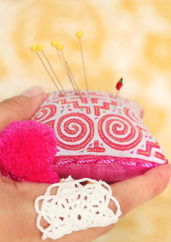 pink pincushions are fun :)