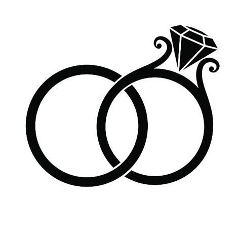 Wedding Ring Clip Art, Vector Images & Illustrations   iStock