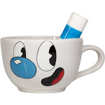 Cuphead Collectibles   Ceramic Molded Mugman Cup   20 oz - 107894 - Blue/White