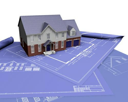 Blueprints and house
