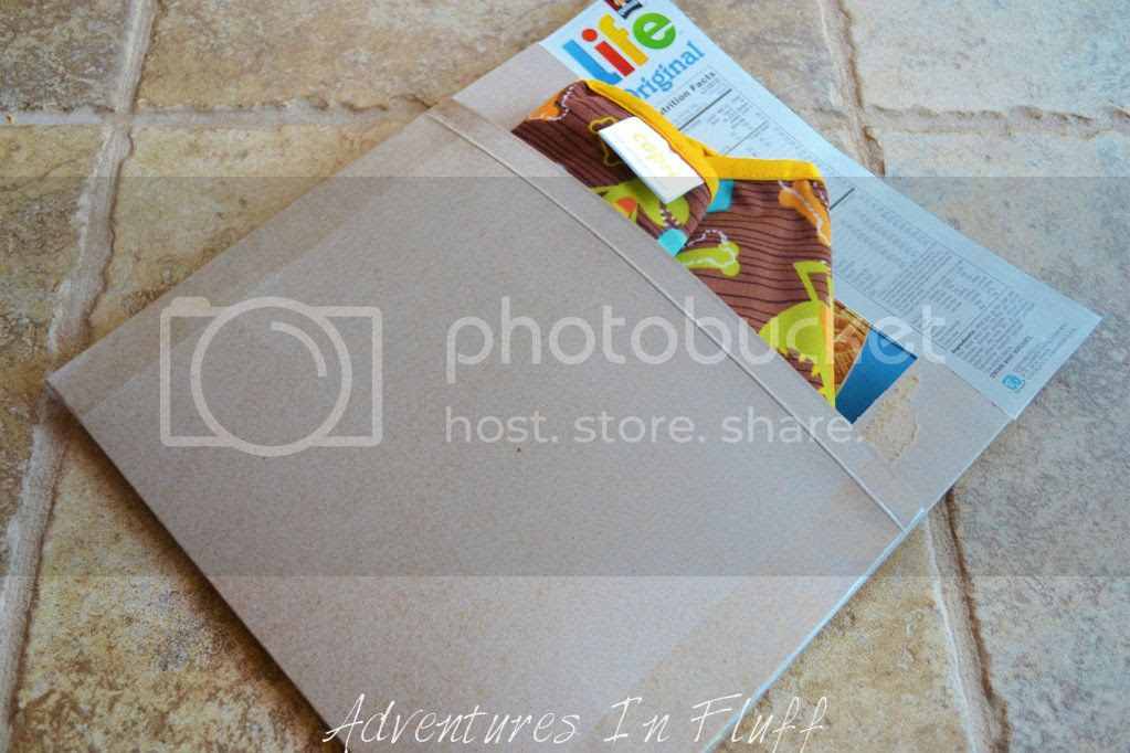 Upcycle a cereal box into a shipping envelope - Fill Envelope
