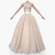 Wedding Dress 017 3d model   CGStudio