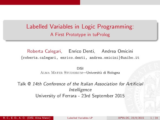 Labelled Variables in Logic Programming: A First Prototipe in tuProlog