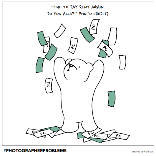 Photo credit won't pay my rent. #PhotographerProblems — The Coffeelicious