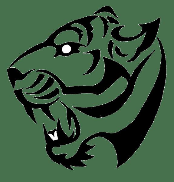 Tatuaje Tigre Blanco Y Negro Png Transparente Stickpng