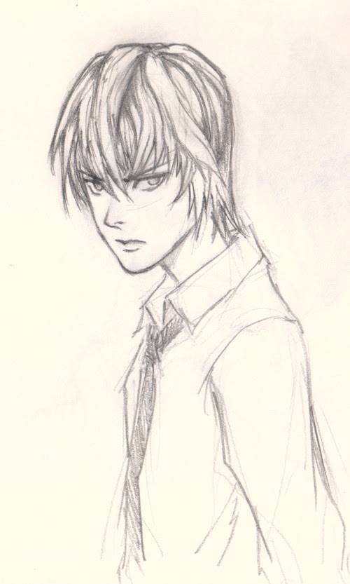 draw Death Note Light Yagami finished