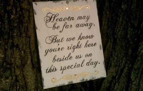 In Memory Of For Weddings