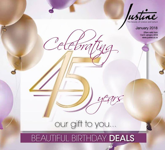Justine Brochure January 2018 | Justine Skincare Products