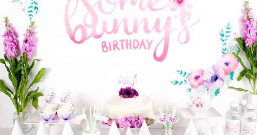 Floral + Bunny Birthday Party