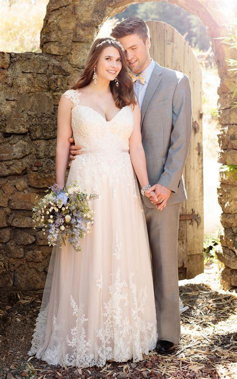 Satin A line Wedding Gown   Essense of Australia
