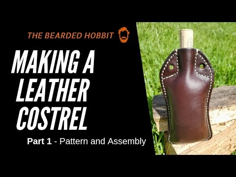 Making a Leather Costrel (Leather Water Canteen)