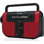 Weather x WR383R Weatherx Emergency Radio/Flashlight - Red