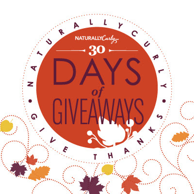 Enter to win Curly Hair prizes: NaturallyCurly.com's Give Thanks November Giveaway
