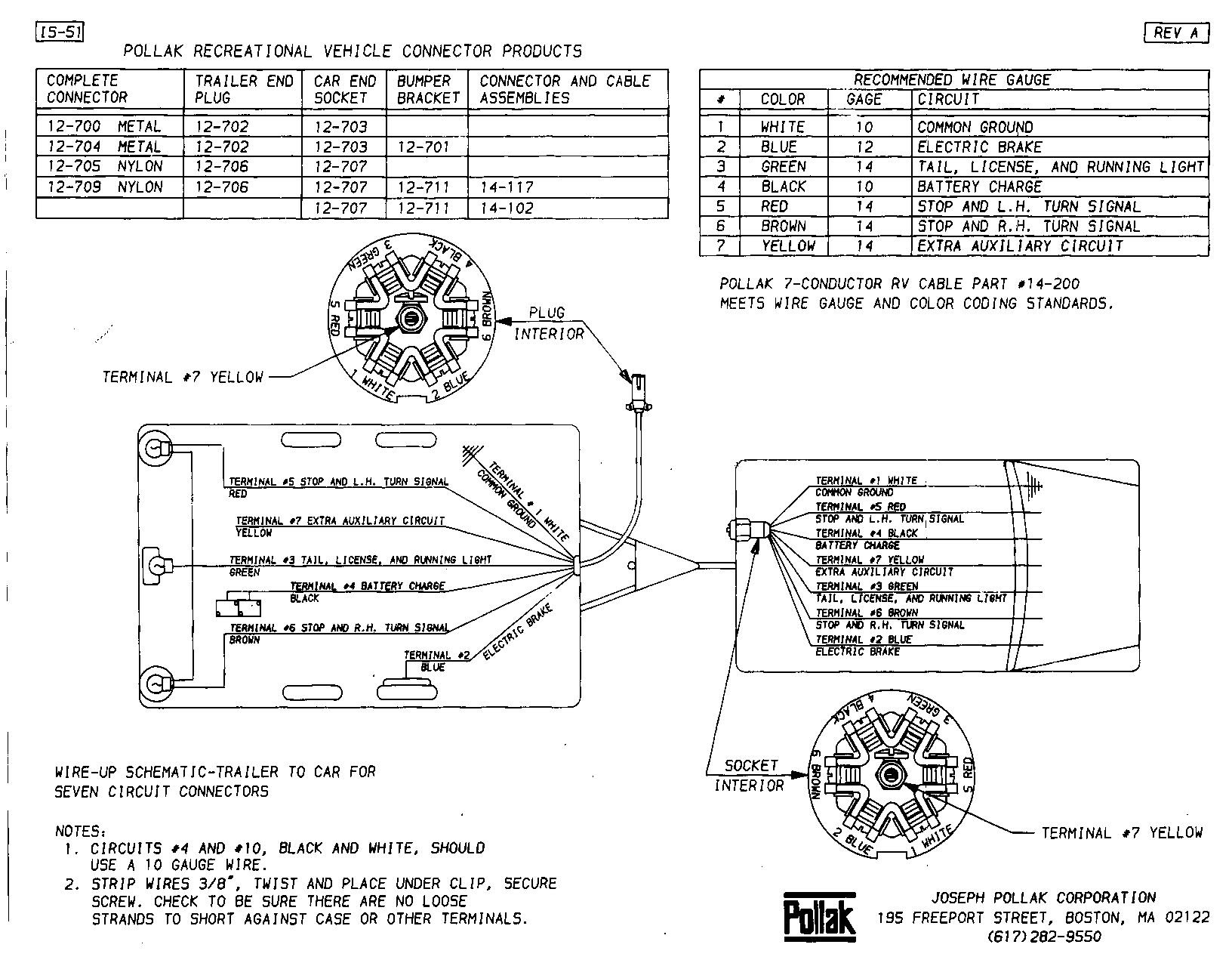 Pollak Trailer Plug Wiring Diagram