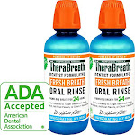 Therabreath Gluten-free Fresh Breath Oral Rinse Icy Mint 16 Ounce Bottle (pack Of 2)