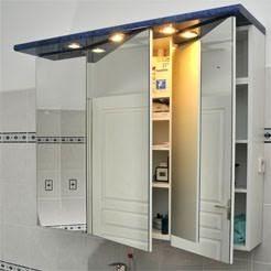 les concepteurs artistiques armoire de toilette avec miroir et tiroir. Black Bedroom Furniture Sets. Home Design Ideas