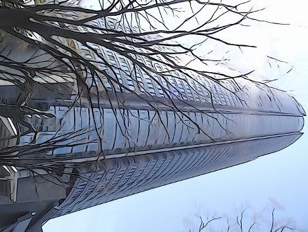 六本木ヒルズ森タワーのイラスト ボスの隠居生活