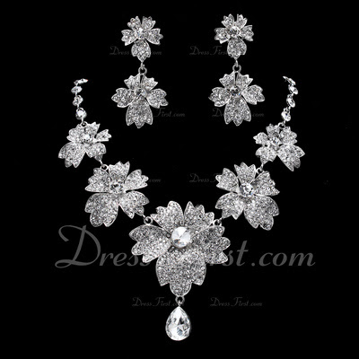 Shining Alloy With Rhinestone Ladies' Jewelry Sets (011019375)