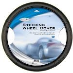 Custom Accessories 38853 Leatherette Steering Wheel Cover, Black