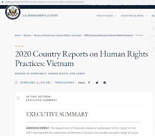 Cáo buộc Bộ Công An vô căn cứ, báo cáo của cơ quan thuộc Bộ Ngoại giao Hoa Kỳ âm mưu điều gì?