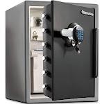 Sentry Safe Electronic Water-Resistant Fire-Safe, Black