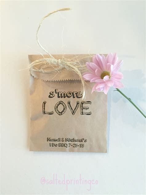 Smore Love Wedding Favor Bags   SALTED Design Studio