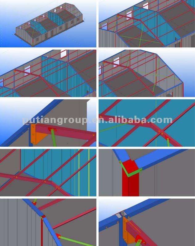 36sqm Two Bed Rooms Prefab Sandwich Panel House - Buy Sandwich ...
