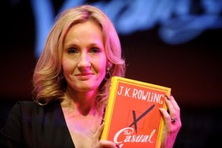JK Rowling with her book The Casual Vacancy