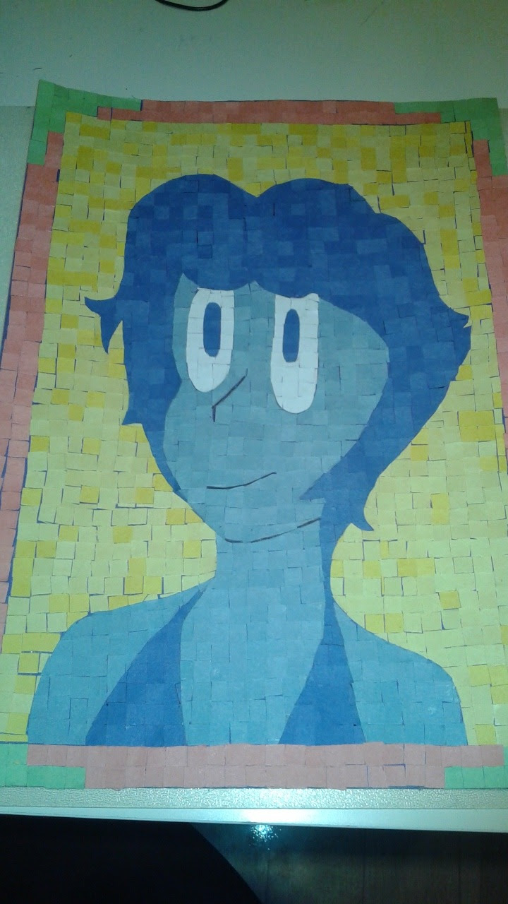 Today's Lapis of the Day is brought to you by: Post-it note Lapis! (By @greciamazing)