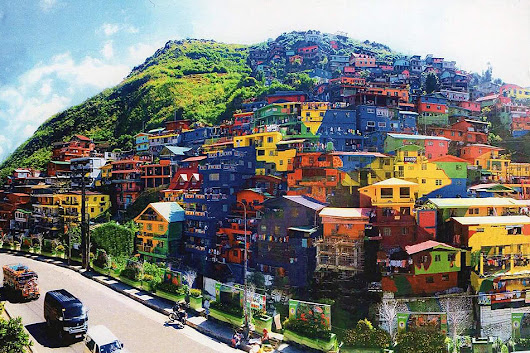 LOOK: Benguet houses turned into colorful mural