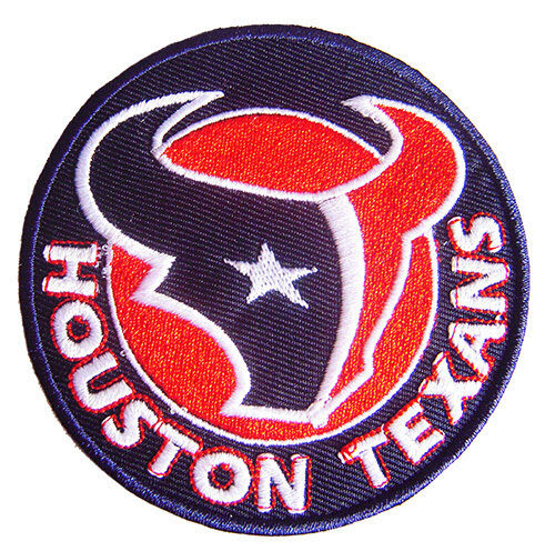 New NFL Houston Texans Logo Football embroidered iron on patch. i2  eBay