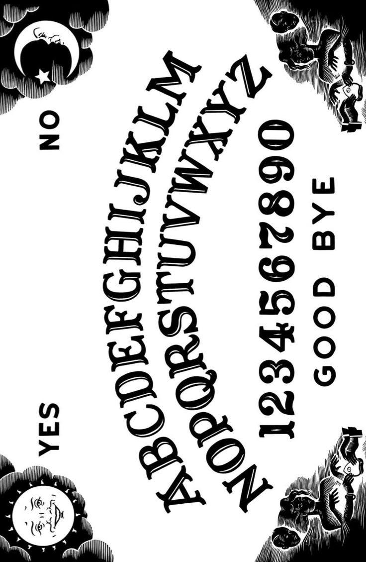 Ouija board printable templates – cbws