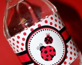 25 Little Miss Ladybug Themed Water Bottle Labels - Water Resistant - The Paper Cupcake