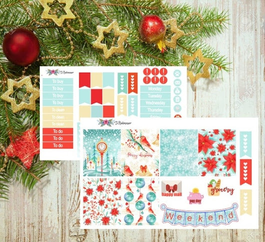 Erin Condren Sticker Set  Weekly Planner Sticker Set  by DSplanner