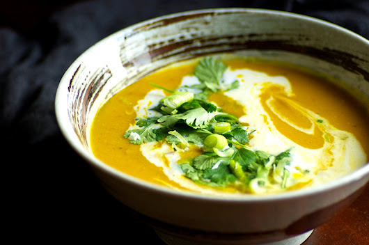 Turmeric Pumpkin Soup with Coconut and Lime | Homespun Capers